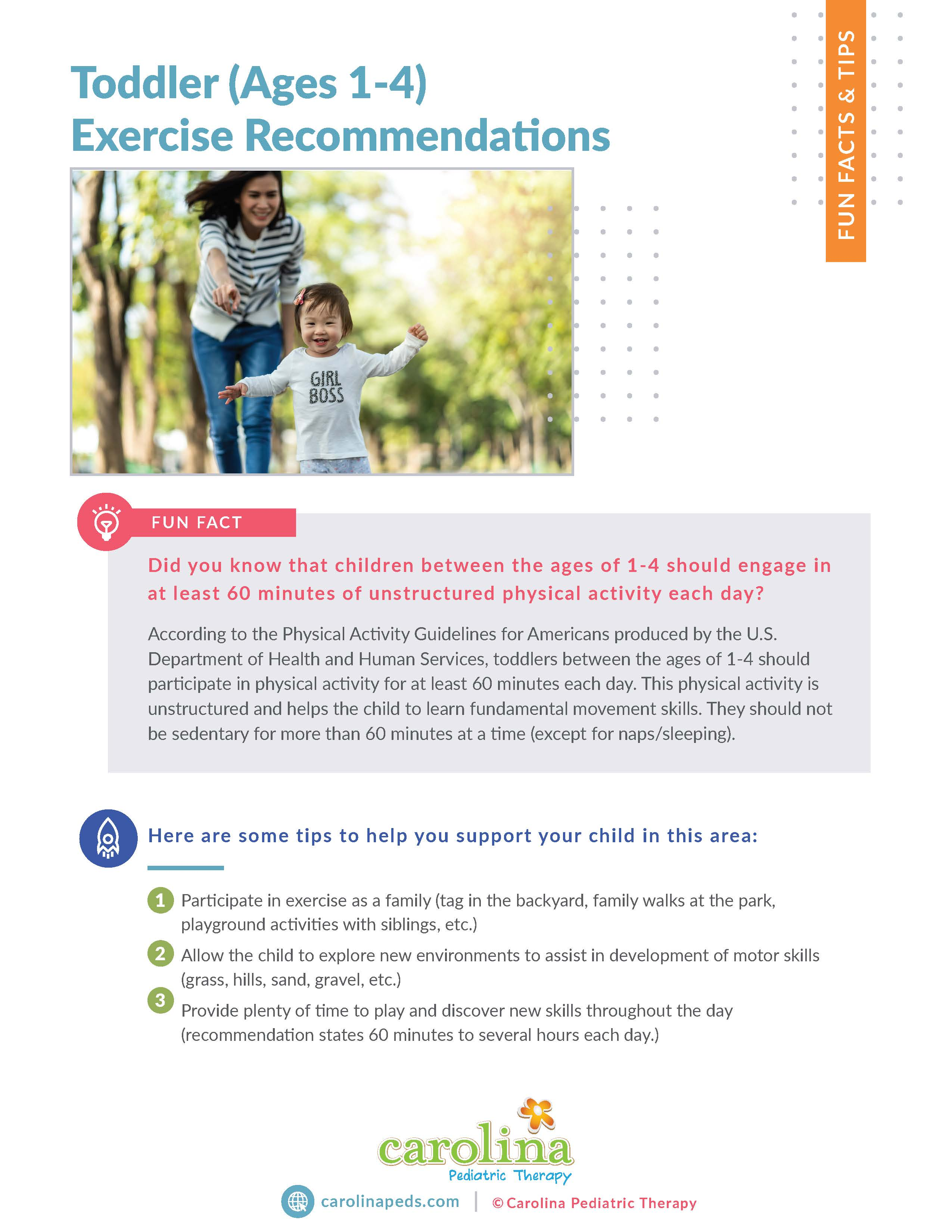 Final Version - Fact & Tips - Toddler (Ages 1-4) Exercise Recommendations - Leilani Maybin, PT (1)