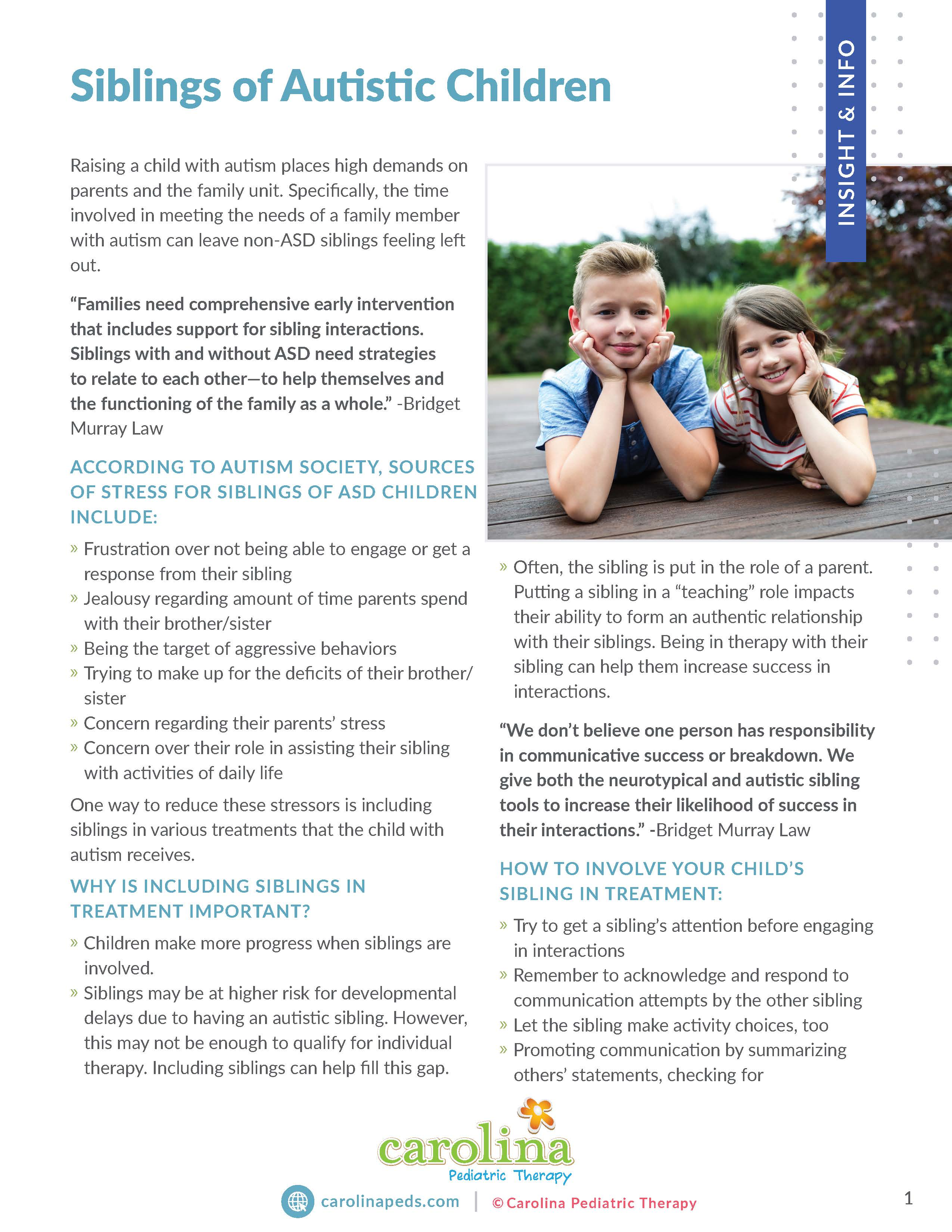 Final Version - Insights & Info - Handout - Informational- Parents - Siblings of Autistic Children - BH_Page_1