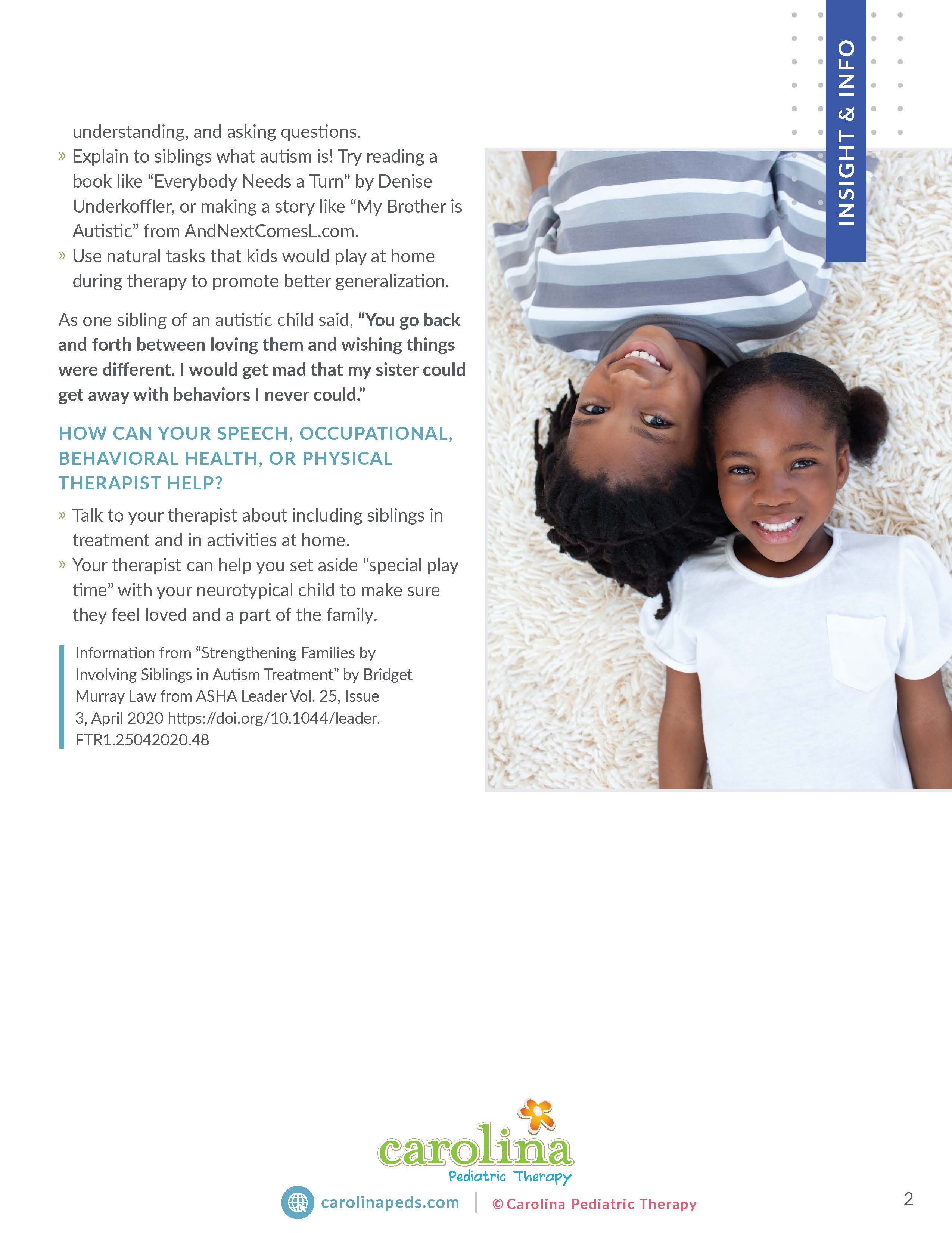 Final Version - Insights & Info - Handout - Informational- Parents - Siblings of Autistic Children - BH_Page_2